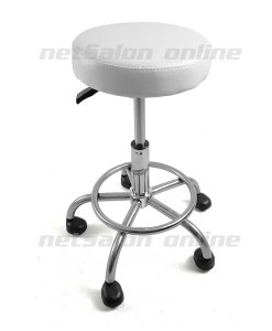 Salon Stool in White