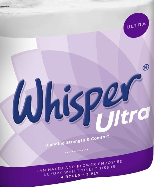 Whisper Ultra Luxury 3ply Toilet Roll