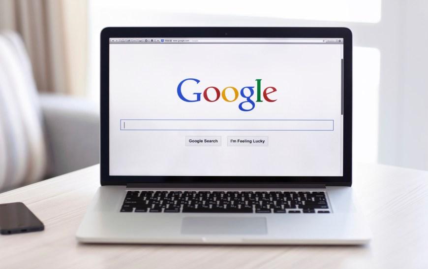 Simferopol, Russia - July 13 2014: Google biggest Internet search engine. Google.com domain was registered September 15, 1997.
