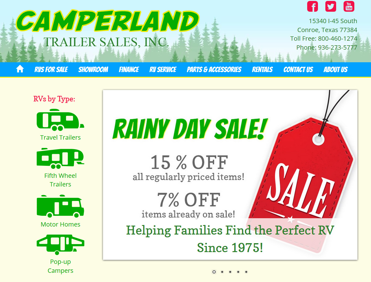 New Website Launch: Camperland Trailer Sales - NetSource