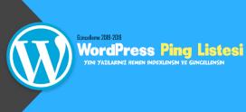 WordPress Güncel 2018 Ping Servisleri Listesi