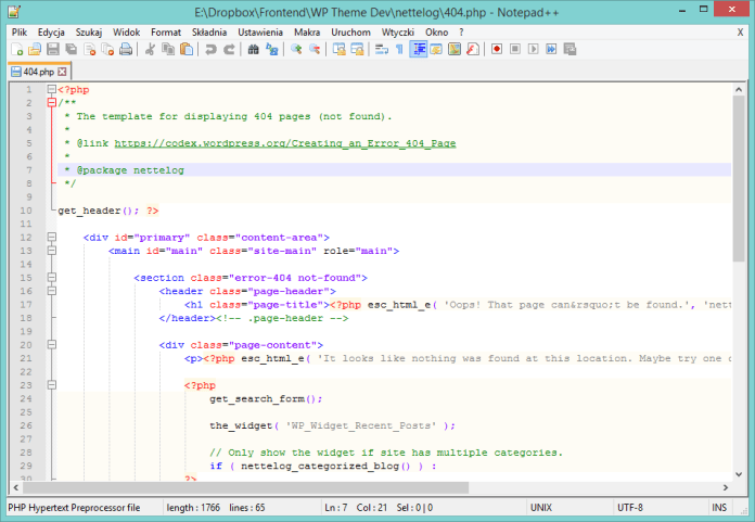 ide vs editors notepad++