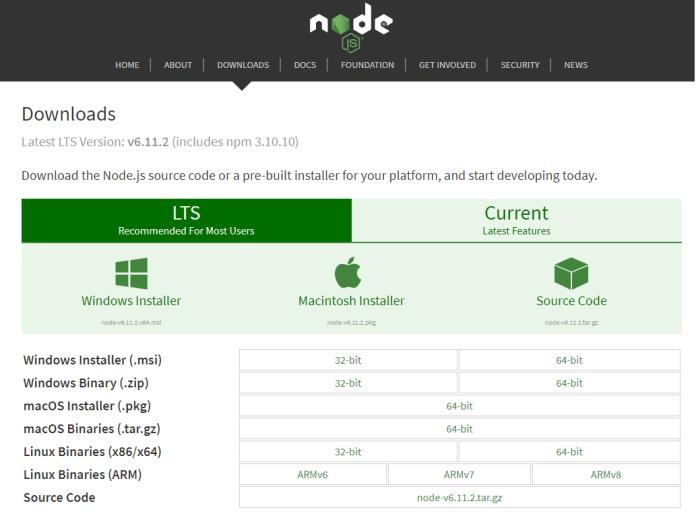 nodejs install