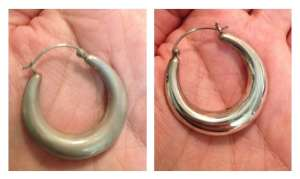 Nettoyage par ultrasons de boucles d'oreilles