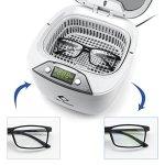 LifeBasis Nettoyeur à ultrasons numérique LED 850ML pour lunettes et bijoux