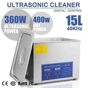 Chaneau Nettoyeur A Ultrasons 15L Ultrasonic Cleaner Professionnel Nettoyeur Digital Affichage Ultrasonique (15L)