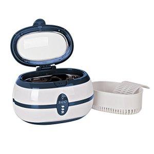 600ml nettoyeur à ultrasons Digital Ultra Sonic de bain avec panier de nettoyage et support de montre en acier inoxydable Réservoir pour bijoux Lunettes montre en métal pièces de monnaie dentier Vgt-800