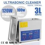 TravelerK Nettoyeur à Ultrasons Appareil 3L Ultrasonic Cleaner Nettoyeur Digital Affichage Ultrasonique (3 L)