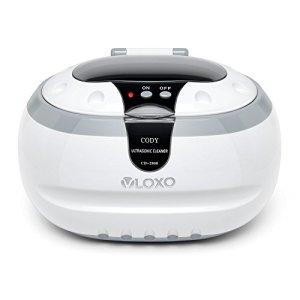 VLOXO Nettoyeur à Ultrasons Domestique 600ml Bac en acier inoxydable avec Panier de nettoyage et Support pour le nettoyage de Lunettes, Bagues, Montres, Rasoirs, Instruments, Pièces de Monnaie