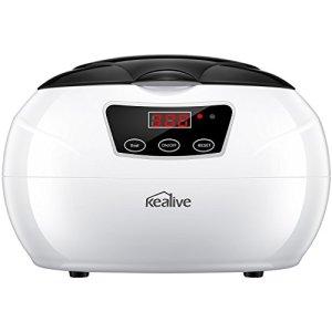 Nettoyeur à ultrasons, Kealive 750ml ultrasonique de nettoyage pour bijoux avec Sonic et Digital programmable pour bijoux, lunettes, prothèses, montres, pièces de monnaie Lentilles dans Home Utilisation quotidienne