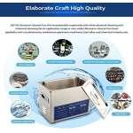 Nettoyeur à ultrasons pour composants industriels appareils médicaux et éléments de construction numérique électronique à ultrasons onde Machine à laver 10L/15L/22L/30L Métallique Argent (10L)