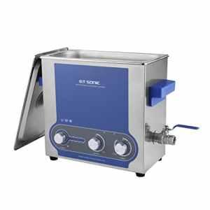 GT Nettoyeur à ultrasons 6L Puissance de Chauffage Minuterie Réglable Inoxydable Réservoir