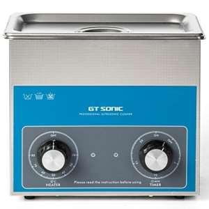 Nettoyeur à ultrasons avec panier et réservoir en acier inoxydable – Temps de nettoyage et puissance de nettoyage réglables – 3 l