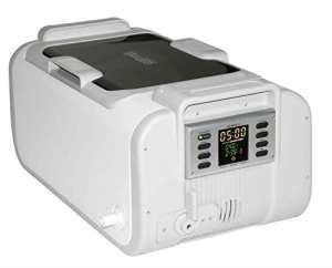 QINGXI Industriel Qualité Nettoyeur à Ultrasons avec Chauffe-Eau & Numérique Minuteur, 2Gal/7.5L, Lumière Gris Couleur, Plastique Panier