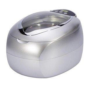 Accueil Spa Pro Nettoyeur à Ultrasons 750ML 5 Nettoyage Cycles Numérique Minuteur Machine pour Bijoux Des lunettes VCD CD Gris