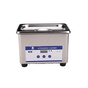 AniFM Mini Nettoyeur à ultrasons numérique, réservoir de Nettoyage de Bain à ultrasons avec Appareil de Chauffage et minuterie pour Le Nettoyage de pièces métalliques/d'articles ménagers/de Verres