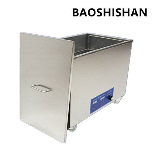BAOSHISHAN 38L Nettoyeur à ultrasons haute fréquence Machine de nettoyage par ultrasons industrielle avec panier pour le nettoyage des lunettes, des bijoux, etc. 200 KHZ