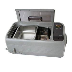 Commercial Nettoyeur à Ultrasons, Plastique Panier, Inoxydable Acier Seau, 1,6 gal / 6 L, Nettoyage Machine Beige