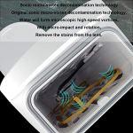 FMMXN Nettoyeur à ultrasons, Verres à Plateau-prothèse à ultrasons Lunettes de Dispositif de Nettoyage Montres Bijoux Boucles d'oreilles Collier Bague,Bleu