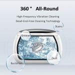 LLDKA Nettoyant Bijoux Portable Appareil à ultrasons, Nettoyeur à ultrasons Professionnel Lunettes prothèse nettoyant avec minuterie numérique pour Lunettes/Anneaux/Pièces