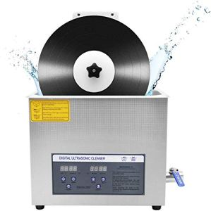 LXDDP Nettoyeur à ultrasons pour Disque Vinyle 6L, minuterie 0-30 Minutes Rotatif Automatique pour Disque 7 Pouces / 12 Pouces sans endommager la Surface délicate, numérique, 180W, approuvé CE