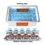 Nettoyeur à ultrasonique numérique 30L, Machine de Nettoyage à ultrasons avec Petits paniers, minuterie | Réchauffeur | Fonction Degas, Nettoyage de Bijoux/Verres/pièces de Monnaie/pièces métalliques