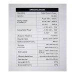SHENGHUAJIE Nettoyeur à Ultrasons Puissant 170W Affichage Numérique Grand Réservoir Capacité 2500ml