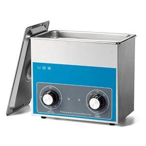 Washing Machine 3L Nettoyeur À Ultrasons Numérique en Acier Inoxydable Ultra Bain Sonique Réservoir 100w Bijoux Montre Professionnelle Denture Nettoyage avec Minuterie Chauffage Et Panier Fauay