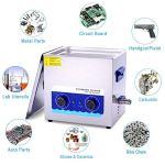 Washing Machine Nettoyeur à Ultrasons 6.5l Et 10l Commercial 180w Et 240w avec Panier De Chauffage pour Bijoux Dentier Pièces De Monnaie Pièces Métalliques Laiton Etc Fauay,6.5L
