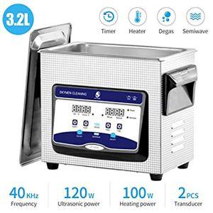 Washing Machine Nettoyeur à Ultrasons Professionnel De 3,2L avec Minuterie Et Panier pour Bijoux Diamants Lunettes De Soleil Dentiers Et Bagues Fauay