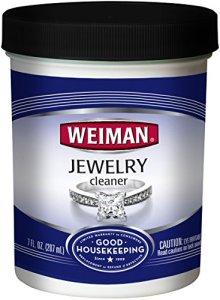 Weiman Liquide de Nettoyage pour Bijoux–Restaure Brillance et Brillant à vers Or, Diamant, Platine, Bijoux et Pierres précieuses–7FL. oz