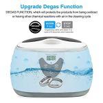 600ml Nettoyeur à ultrasons Outils de manucure Nettoyage Sonic Bijoux Lunettes Accueil Ultrason Bain Lave-Linge,Blanc