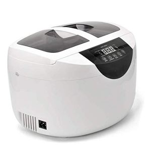 Nettoyage à ultrasons portatifs for le ménage Machine, Nettoyeur de bijoux à ultrasons professionnel avec 5 niveaux de minuterie 60 ° chauffage for bijoux, diamants, lunettes, lunettes de soleil, dent