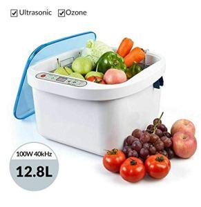 Nettoyeur à ultrasons domestique, 12.8L Nettoyeur à ultrasons pour fruits et légumes à usage domestique Nettoyeur de produits frais pour nettoyer les fruits, les légumes, les prothèses dentaires