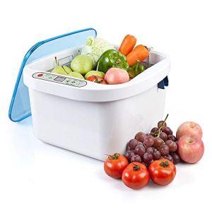 SMLZV Fruit de l'ozone et la Machine à Laver légumes, Nettoyeur à ultrasons Portable – Fruits ménagers, la Vaisselle, Bouteille, Ozone par ultrasons, ultrasons