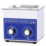 2L professionnel en acier inoxydable nettoyeur à ultrasons Lunettes Bijoux Aspirateur machine de nettoyage mécanique Chauffage Courroie réglable 110V/220V