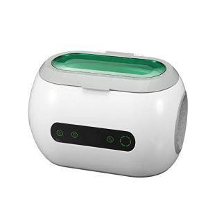 NLYWB Nettoyeur à ultrasons, Bague de retenue de Diamant, Doublure en Acier Inoxydable 304, contrôle Tactile, Affichage à écran LED, adapté aux Lunettes, Bijoux, etc, 8×5.5×5.4 Pouces