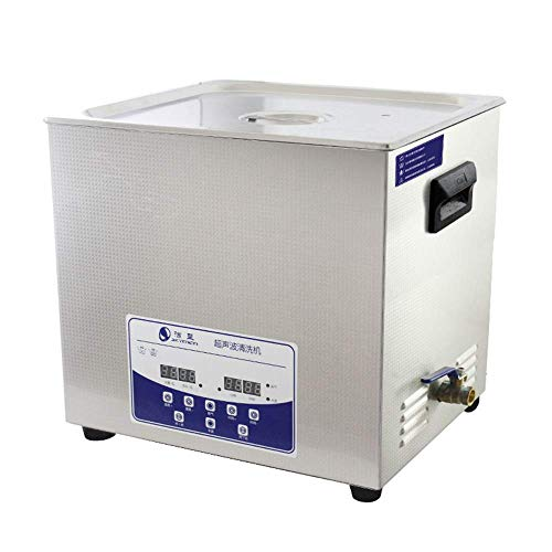 LUBI 20L Professionnel Nettoyeur à Ultrasons Machine avec Numérique Pavé Tactile Minuteur Chauffé Acier Inoxydable Réservoir Capacité Réglable