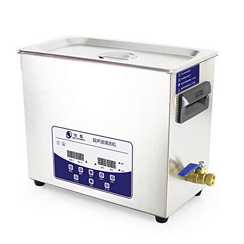 LUBI 6.5L Professionnel Nettoyeur à Ultrasons Machine avec Numérique Pavé Tactile Minuteur Chauffé Acier Inoxydable Réservoir Capacité Réglable