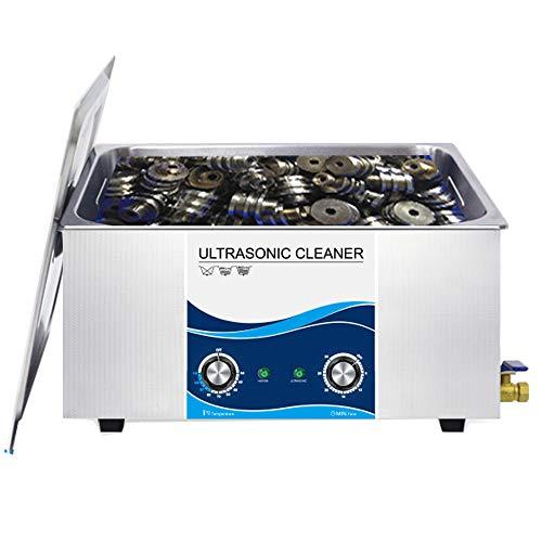 Mxmoonant Nettoyeur à ultrasons Machine en acier inoxydable Chauffage à ultrasons Chauffage & Minuterie pour usage professionnel et privé (22 L, 480 W)