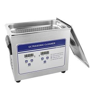 6L professionnel multifonctionnel en acier inoxydable nettoyeur à ultrasons Nettoyant pour bijoux Lunettes numérique Qualité commerciale