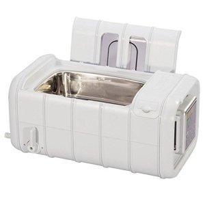 Commercial Nettoyeur à Ultrasons, 3L Grand Capacité avec Numérique Minuteur Chauffe-eau Plastique Panier Nettoyage Machine Lumière Gris