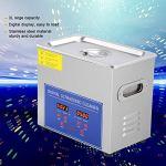 Nettoyeur à ultrasons pour bijoux lunettes Dental et éléments de construction numérique électronique à ultrasons onde Machine à laver 2L/3L/6L/10L/15L métallique argent (2.0L)