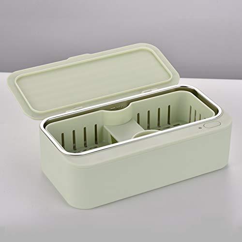 Nettoyeur Ultrasons Lunettes, 450ML Bac Ultrasons, Nettoyage Kit pour Nettoyeur Pinceau Maquillage Bijoux Bagues Dentier Montres Étanches Ustensiles etc,Green
