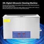Numérique Nettoyeur Ultrason, 30L Numérique Nettoyage à Ultrasons avec Minuteur- Réservoir Inoxydable