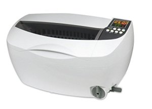 Professionnel Nettoyeur à Ultrasons,3.2Qt/3L, Nettoyage Machine avec Numérique Minuteur Plastique Panier pour Bijoux Des lunettes blanc Couleur