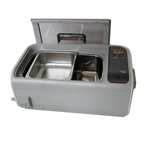 QINGXI Commercial Nettoyeur à Ultrasons, Plastique Panier, Inoxydable Acier Seau, 1,6 Gal / 6 L, Nettoyage Machine Beige