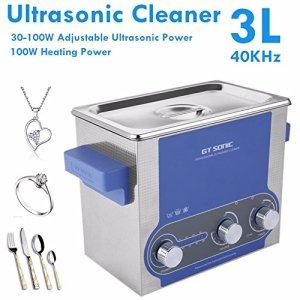 Sonique 3L Nettoyeur à Ultrasons Une baignoire Nettoyage Électronique Chirurgical les pièces Minuteur Température Puissance Réglage Nettoyage Machine