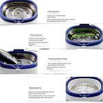 Kempp Nettoyeur à ultrasons 600ML Professionnel Ultrason Nettoyage pour Bijoux Lunettes Montres Dentier,Bac à Ultrason