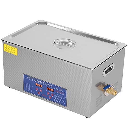 Nettoyeur à ultrasons numérique 22L 480W, nettoyeur à ultrasons en acier inoxydable avec grande minuterie numérique et affichage de la température, radiateurs pour lunettes, bijoux, pièces de monnaie,